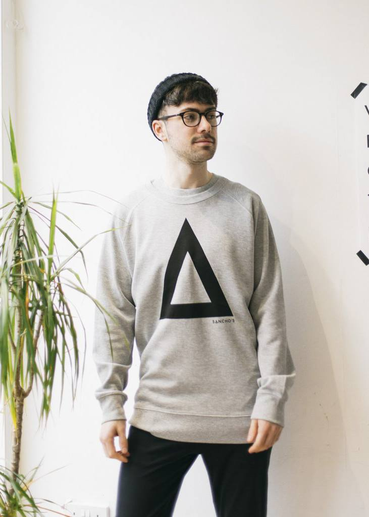 """Triangles are my favourite shape"" Jumper-Sweatshirt-Sancho's Dress"