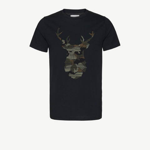 James No Deer Here in Black-T-Shirt-Sancho's Dress