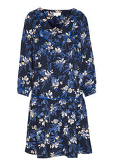 Meretaa Dispersed Flowers in Dark Navy-Dress-Sancho's Dress