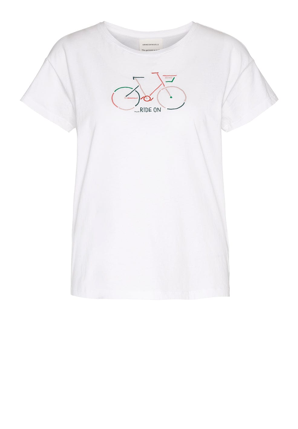 Nelaa Bike in White-T-Shirt-Sancho's Dress