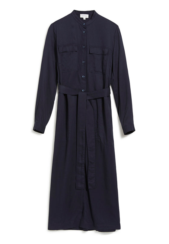 Natural Viscose Beantaa Shirt Dress in Night Sky Navy Blue from Armedangels