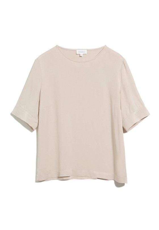 100% Natural Viscose Loriaa Top in Kitt Cream from Armedangels