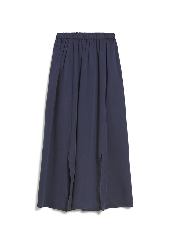 100% Natural Viscose Katinkaa Offspring Midi Skirt in Night Sky Navy from Armedangels