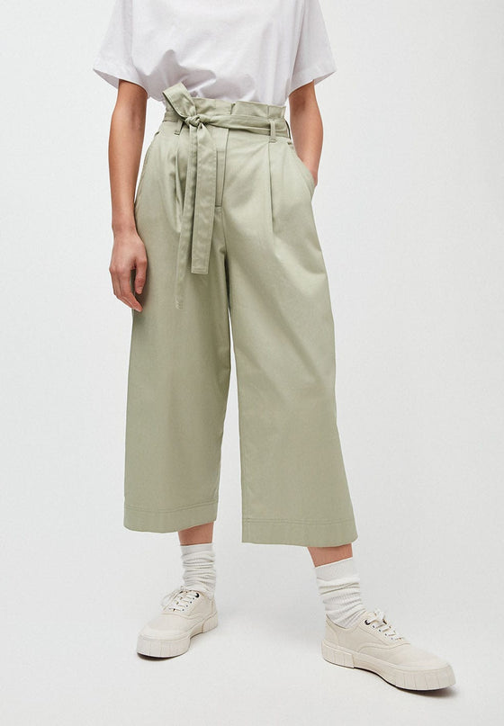 Light Pistachio Green Wide Leg Trousers In Tencel From Armedangels