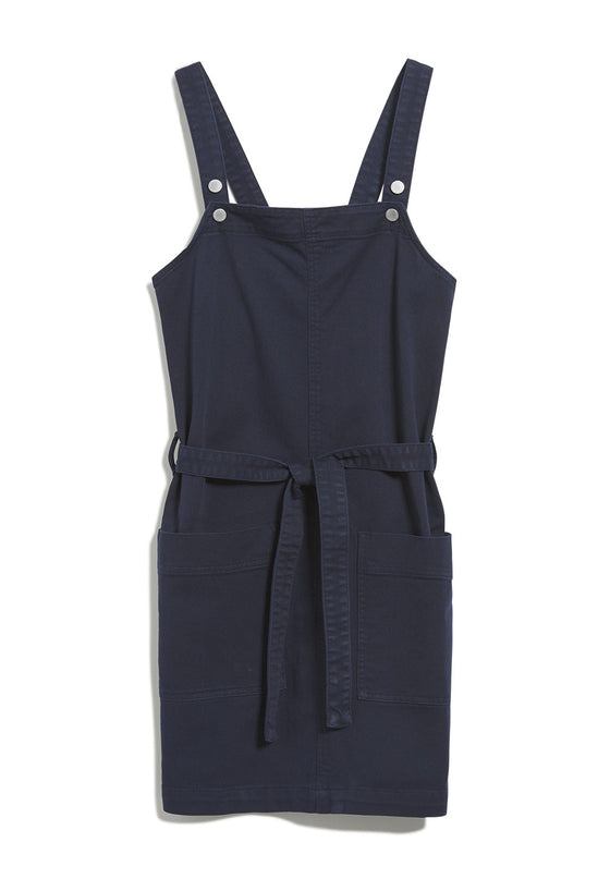 Natural Viscose Leoniaa Pinafore Dress in Night Sky Navy from Armedangels