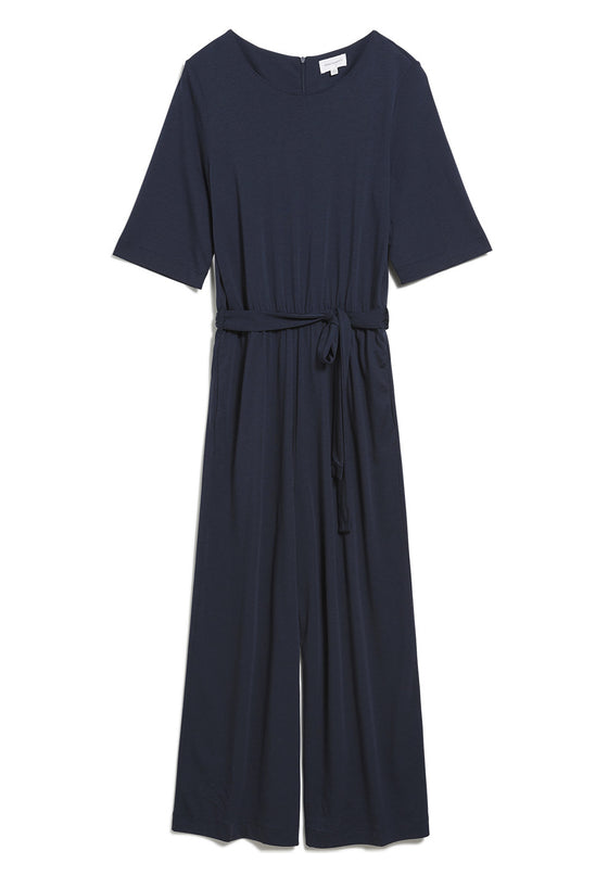 Natural Viscose Helenaa Jumpsuit in Night Sky Navy from Armedangels