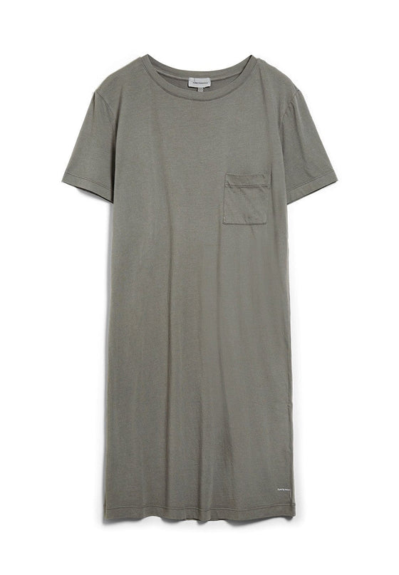 Organic Cotton Diana Dyed by Nature Dress in Natural Khaki from Armed Angels