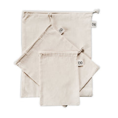 Set of 3 Organic Cloth Bags-Plastic Free-Sancho's Dress