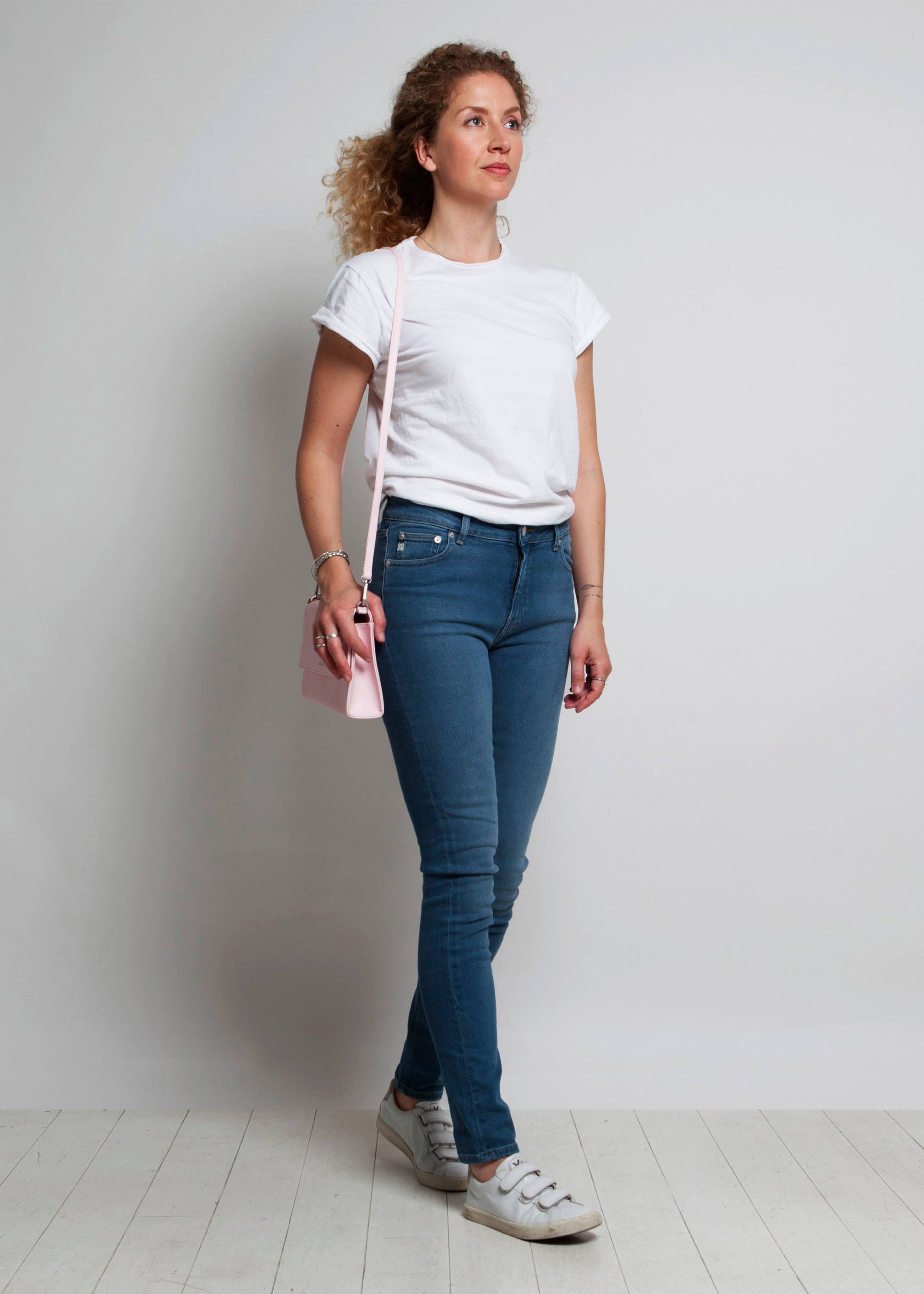 Mud Jeans - Skinny Hazen - Pure Blue-Jeans-Sancho's Dress