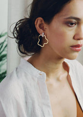 Aalto Ecru Earrings-Earrings-Sancho's Dress