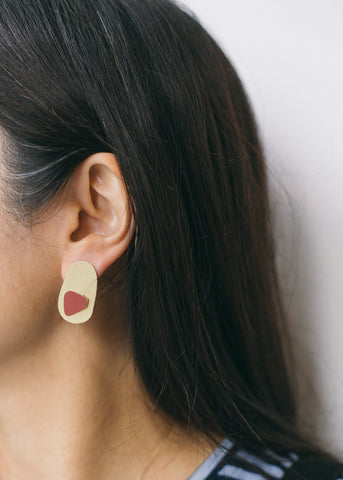 Immersion Earrings in Dark Red-Earrings-Sancho's Dress