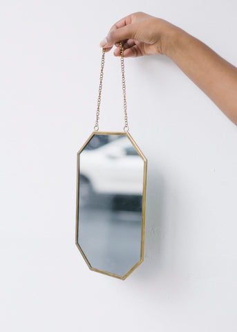 Geometric Hanging Mirror-Homeware-Sancho's Dress