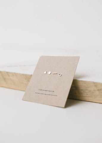 Silver Mix and Match Studs-Earrings-Sancho's Dress