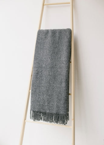 Lifestyle Wafer Throw in Slate-Homeware-Sancho's Dress