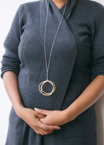 Brass Cluster Necklace-Necklace-Sancho's Dress
