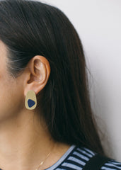Immersion Earrings in Navy-Earrings-Sancho's Dress