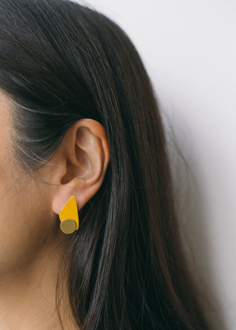 Aspiration Earrings in Mustard-Earrings-Sancho's Dress