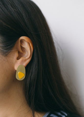 Immersion Earrings in Mustard-Earrings-Sancho's Dress