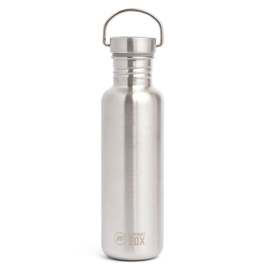 Stainless Steel Zero Waste Reusable Water Bottle 750ml from Elephant Box