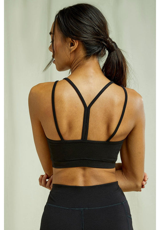 Organic Cotton Yoga Y-back Crop Top Sports Bra from People Tree