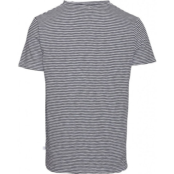 Alder Narrow Stipe Tee in Total Eclipse
