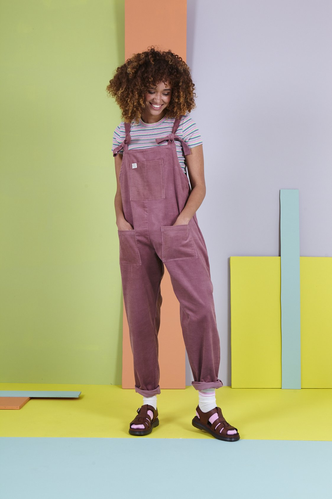 Organic Originals in Ash Pink-Dungarees-Sancho's Dress