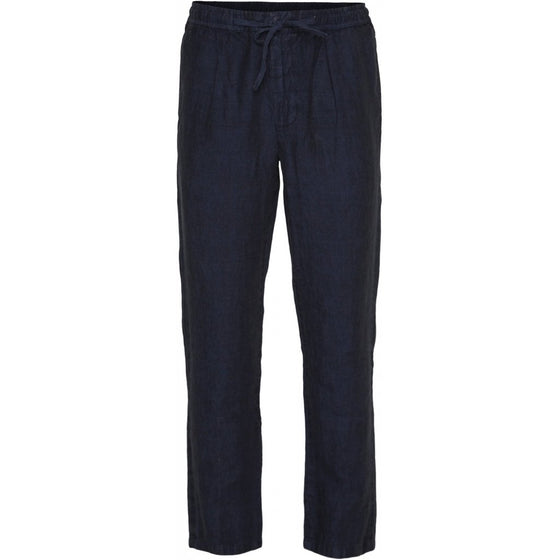 Lyocell Birch Loose Ramie Trousers in Total Eclipse Dark Grey from Knowledge Cotton Apparel