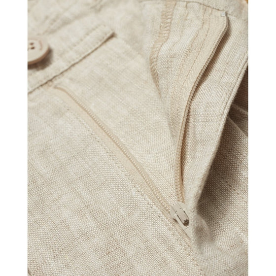 Birch Loose Linen Trousers in Light Feather Grey