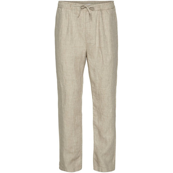 Ethically Made 100% Linen Birch Loose Trousers in Light Feather Grey from Knowledge Cotton Apparel