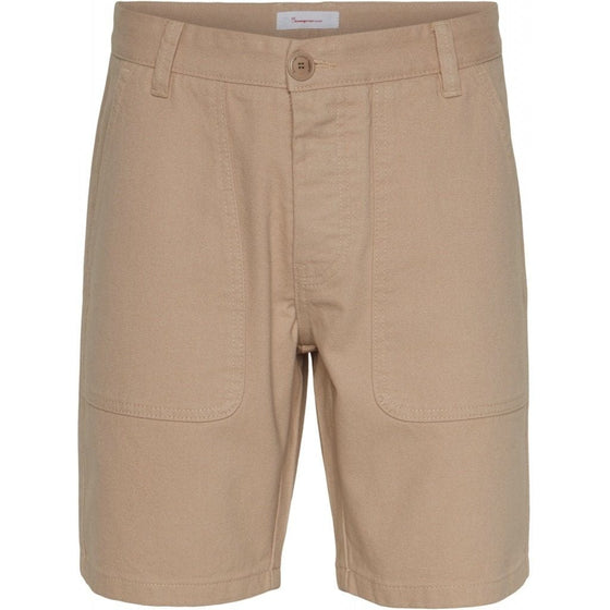 100% Organic Cotton Birch Loose Shorts in Tuffet Beige from Knowledge Cotton Apparel