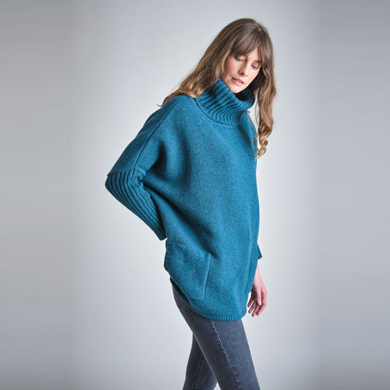 Affordable Wool Dark Emerald Turtle Neck Jumper from Black Owned Sancho's in Exeter