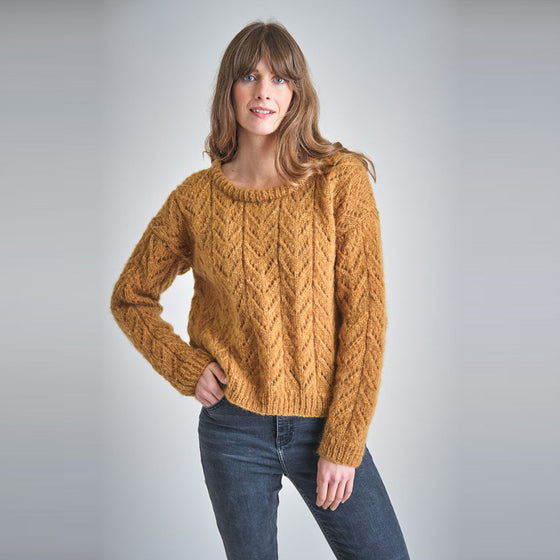 Ethical Handmade Knitted Jumper in Brown from Sancho's in Exeter, UK