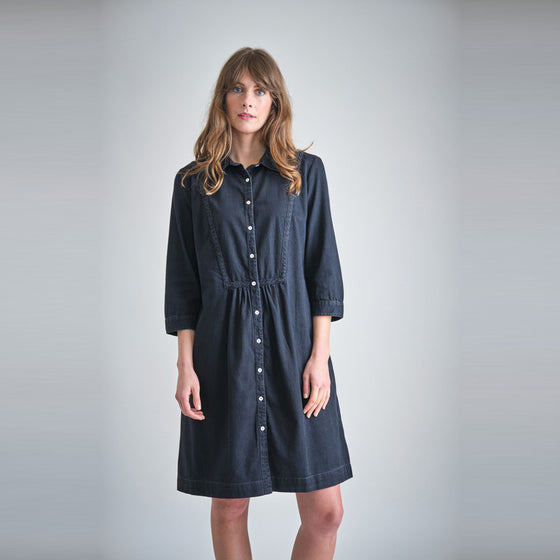 Affordable Organic Cotton Denim Shirt Dress from Sancho's in Exeter UK