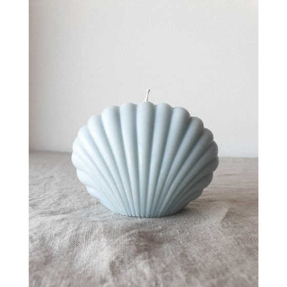 Shell Candle in Powder Blue