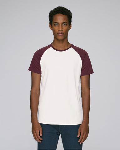 Baseball T in White and Burgundy-T-Shirt-Sancho's Dress