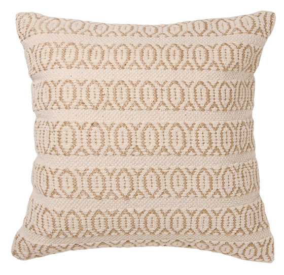 Recycled cotton and organic, sustainable jute Kailash handloom chenille & jute cushion cover from Namaste