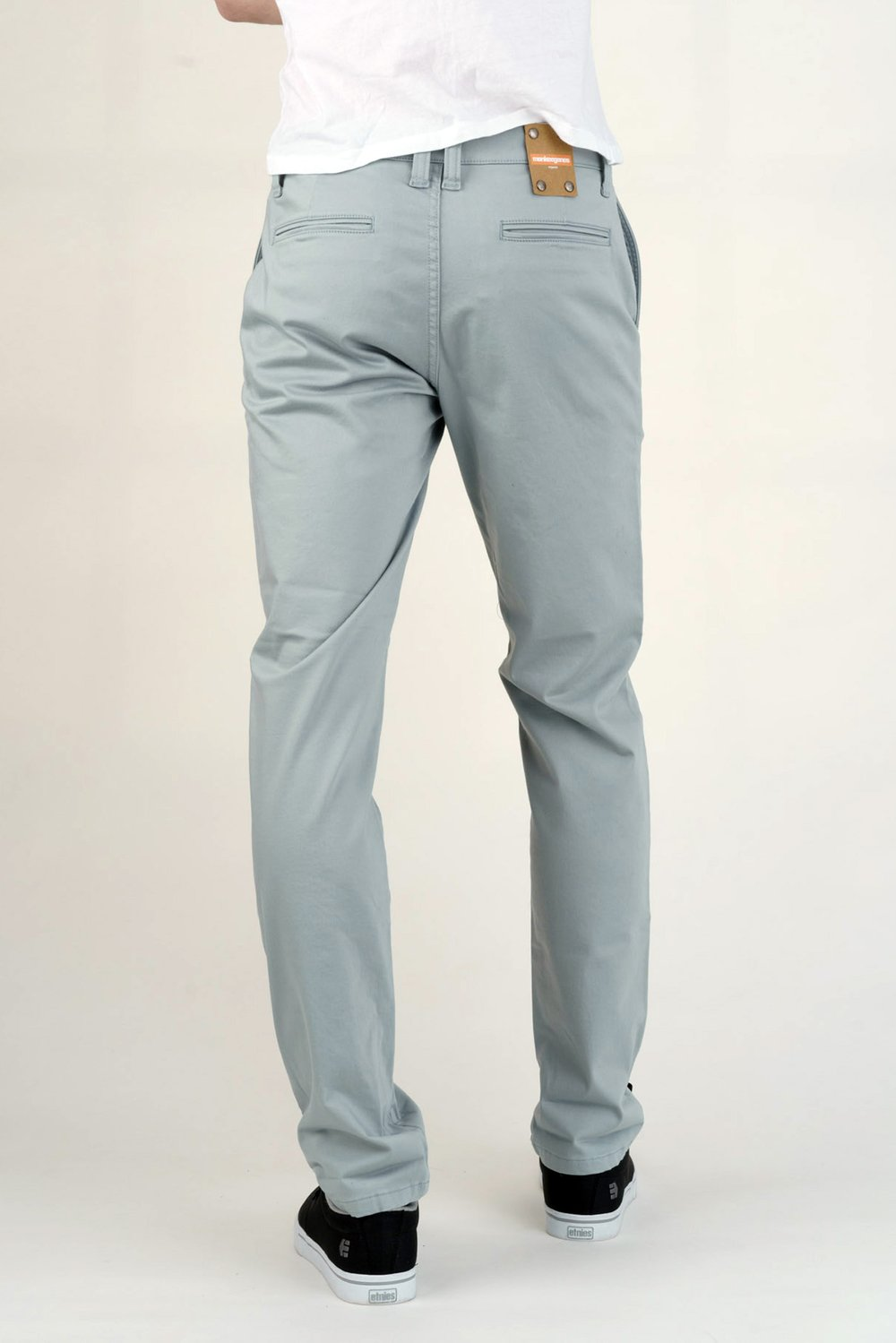 Men's Chinos in Silk Blue-Jeans-Sancho's Dress