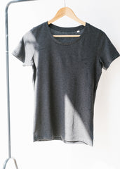 She Expresses in Dark Heather Grey-T-shirt-Sancho's Dress