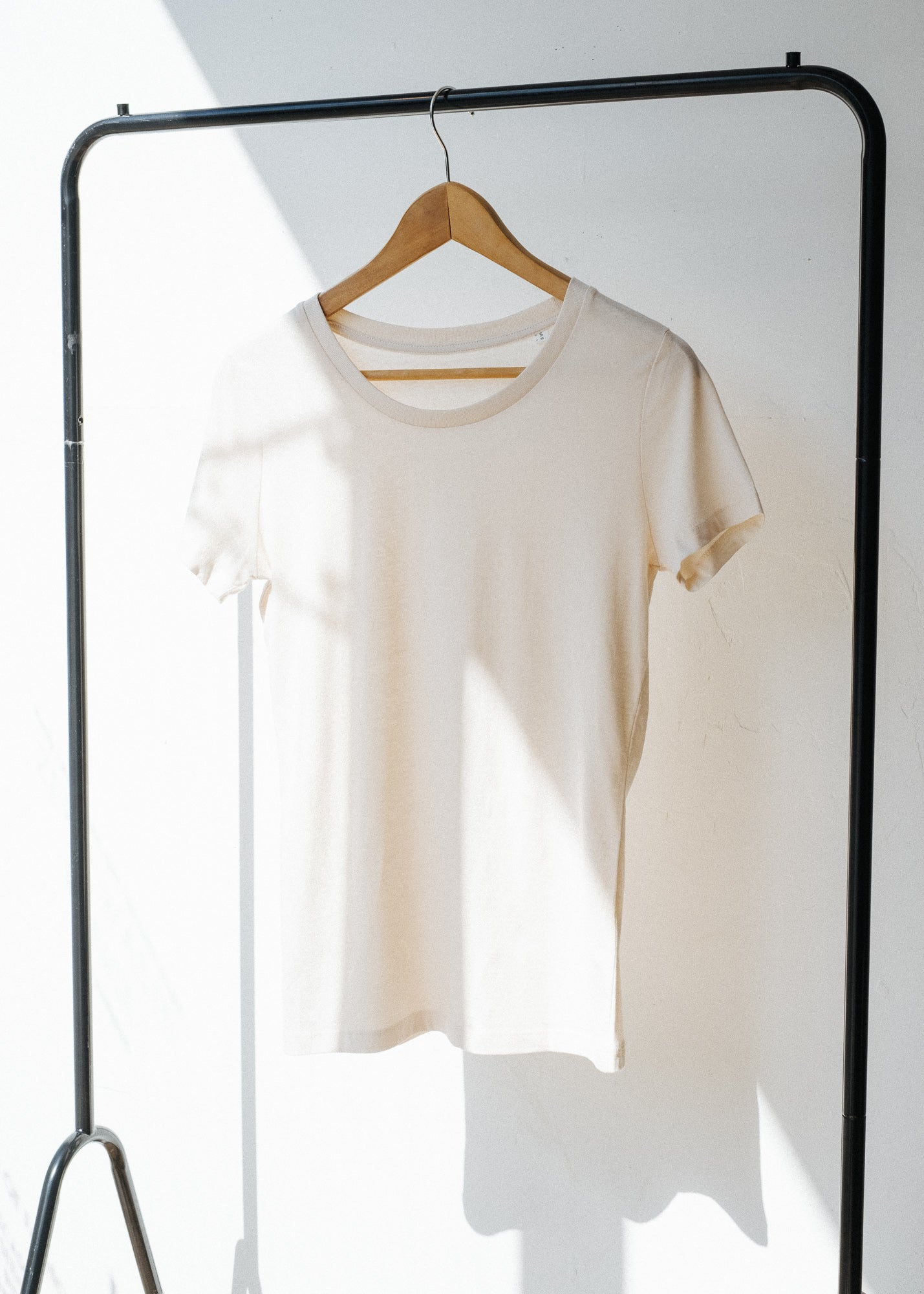 She Expresses in Vintage White-T-shirt-Sancho's Dress