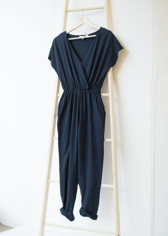 Oliana Jumpsuit in Navy-Jumpsuit-Sancho's Dress