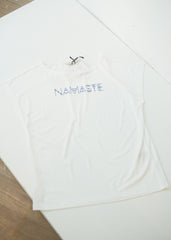 Yoga Namaste Tee in White-Top-Sancho's Dress