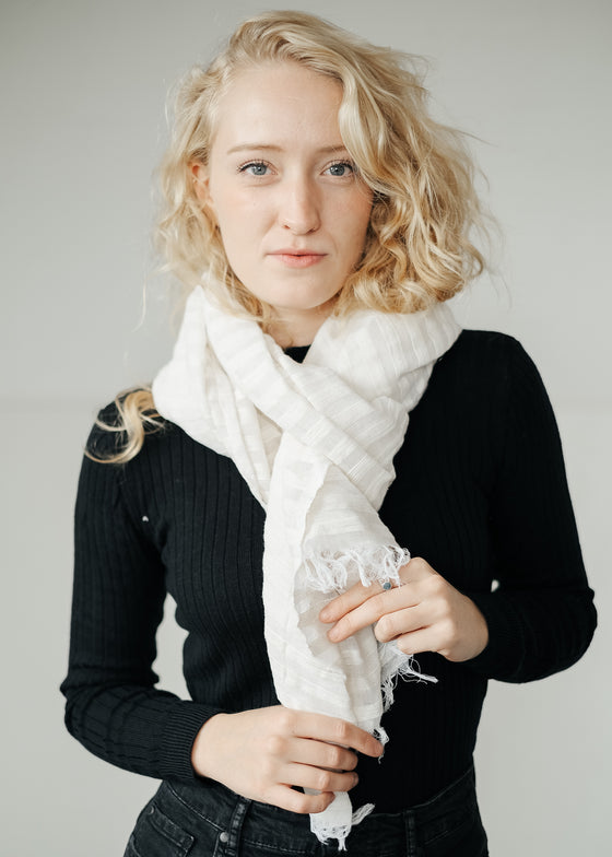 White Scarf No 2