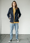 Recycled PET Flagship Pea Coat Blazer in Indigo from Komodo