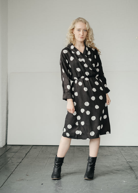 Kusama Dot Wrap Dress