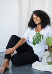 Bamboo Base Layer Tee in White-T-shirt-Sancho's Dress