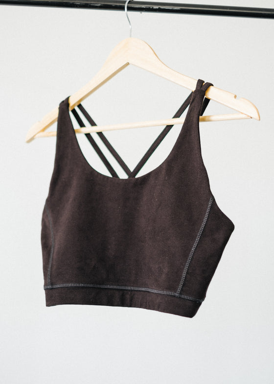 Organic Cotton Yoga Cross Back Top Bra from People Tree