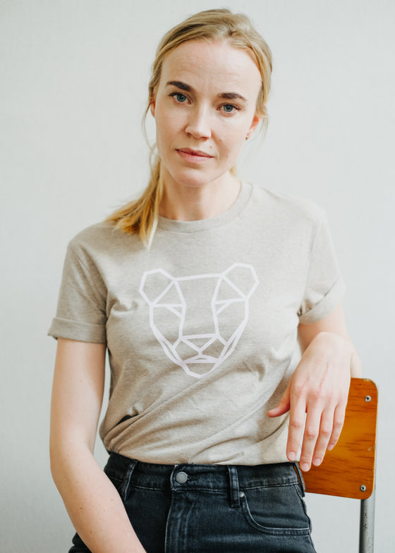 Limited Edition Sancho's Lioness Tee in Heather Sand-T-shirt-Sancho's Dress