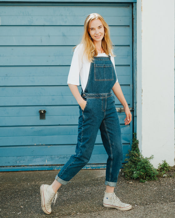 Brooklyn Denim Dungarees in Blue-Dungarees-Sancho's Dress