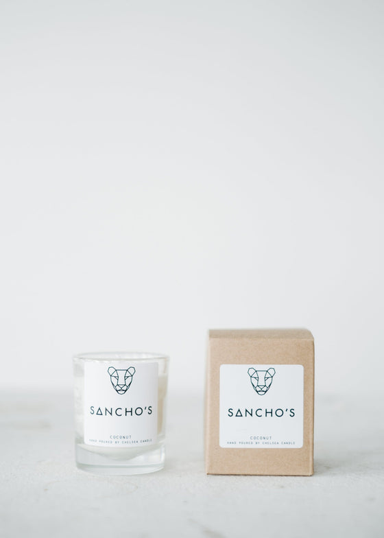 Natural Calming Ethically Made Coconut Mini Candle from Sancho's