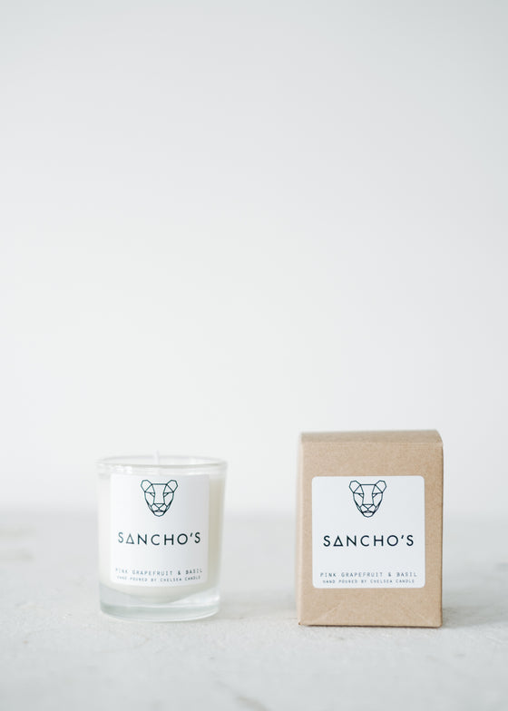 Pink Grapefruit & Basil Mini Candle-Candle-Sancho's Dress